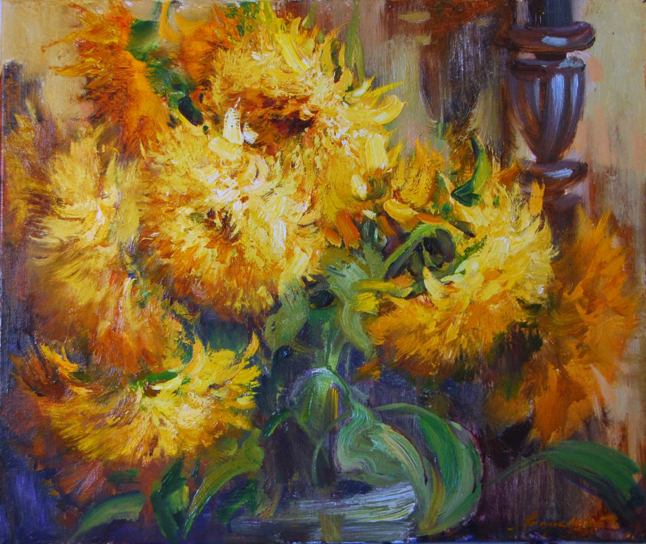 Майстер-клас з живопису «Осінні квіти»